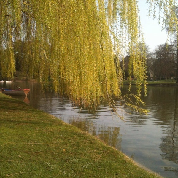 Photo taken at Lac Daumesnil by Florian A. on 3/13/2014