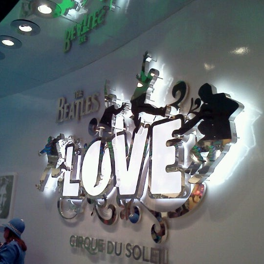 Photo taken at The Beatles LOVE (Cirque Du Soleil) by Long on 10/6/2012