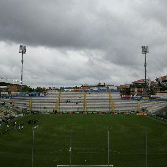 Photo taken at Stadio Ennio Tardini by Rodrigo F. on 5/13/2012