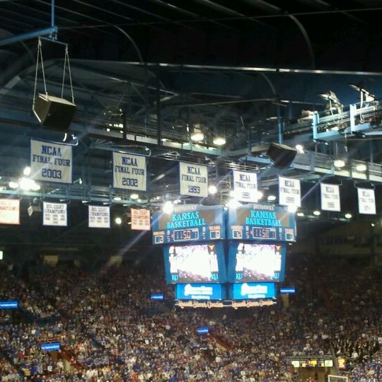 Photo taken at Allen Fieldhouse by Joe D. on 3/4/2012