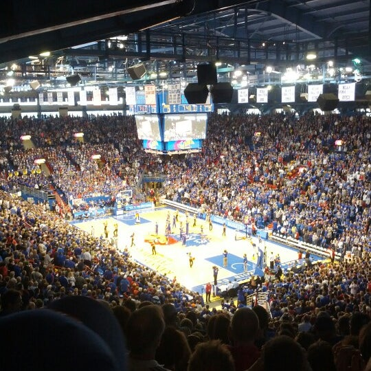 Photo taken at Allen Fieldhouse by Justin L. on 1/26/2013