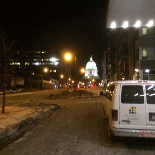 Photo taken at Hyatt Place Madison/Downtown by Dan P. on 12/30/2013