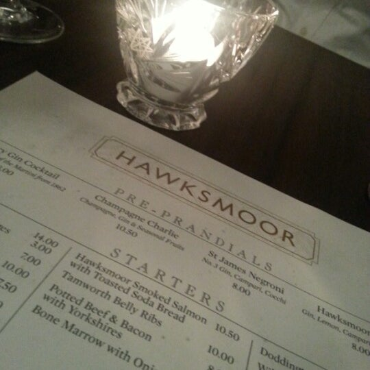 Photo taken at Hawksmoor by Mohammad A. on 10/5/2012