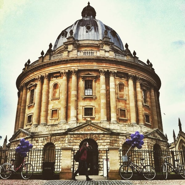 Photo taken at Radcliffe Camera by Jaroslaw M. on 1/26/2015