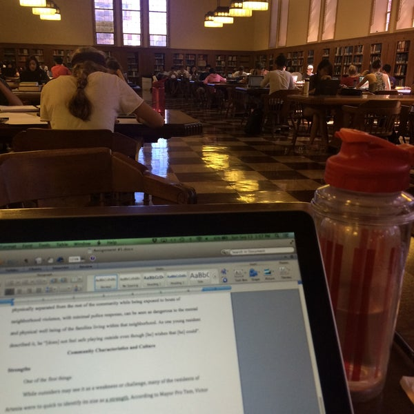 Photo taken at Doheny Memorial Library (DML) by Ariadna A. on 9/13/2015
