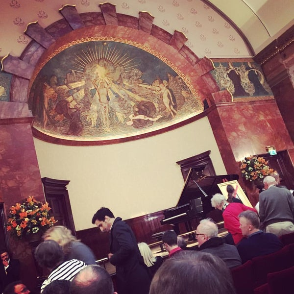 Photo taken at Wigmore Hall by Amir M. on 4/15/2016
