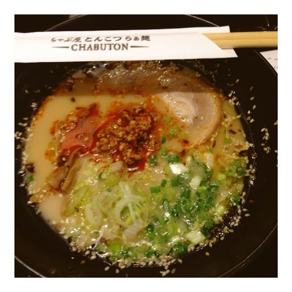 Photo taken at Chabuton Ramen by TATUM S. on 3/1/2014