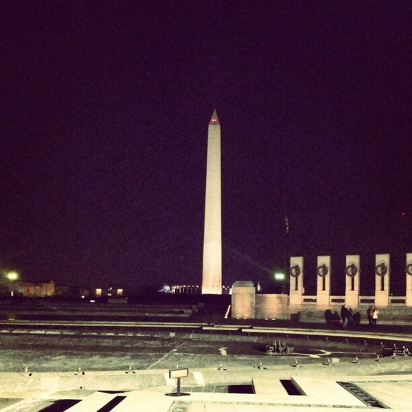Photo taken at World War II Memorial by patrick n. on 1/21/2013
