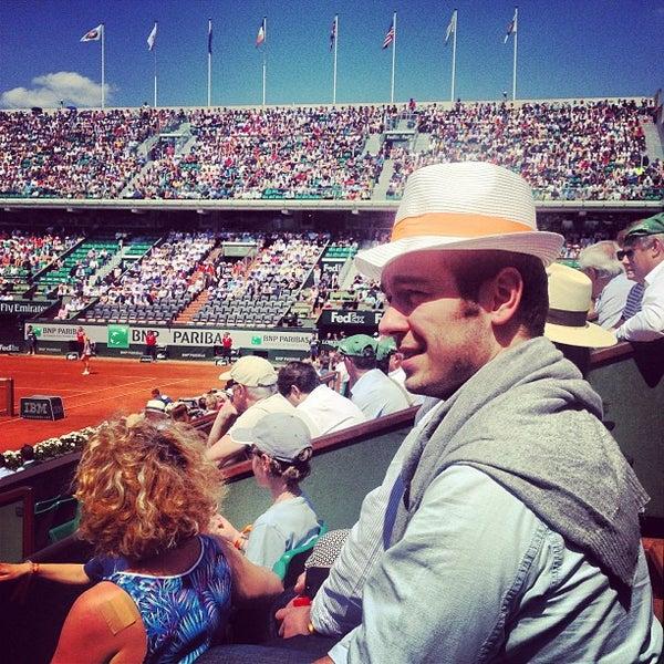 Photo taken at Stade Roland Garros by Felix M. on 6/5/2013