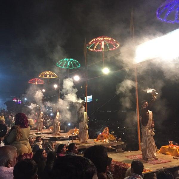 Photo taken at Dasaswamedh Ghat by Robert O. on 1/9/2016