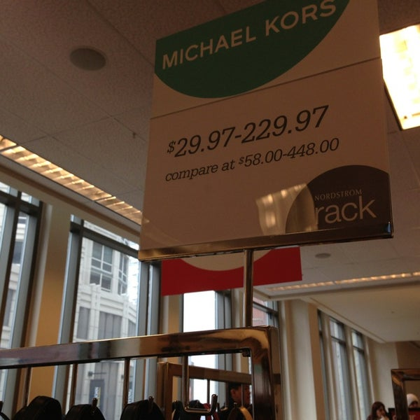 Photo taken at Nordstrom Rack Chicago Avenue by Sarah R. on 2/16/2013