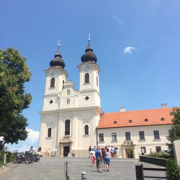 Photo taken at Tihanyi Apátság by Szabi N. on 7/23/2016
