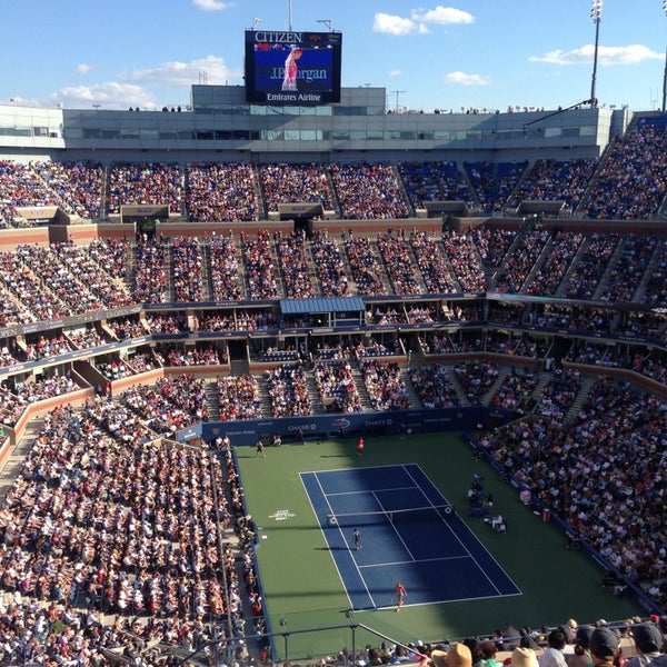 Photo taken at 2014 US Open Tennis Championships by Jacob U. on 9/8/2013
