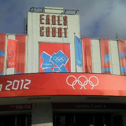 Photo taken at Earls Court Exhibition Centre by Ash M. on 8/2/2012
