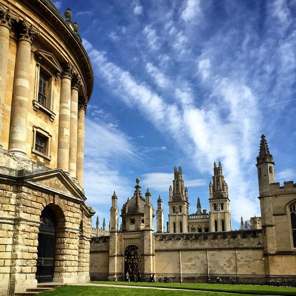 Photo taken at Radcliffe Camera by Kate O. on 4/18/2015