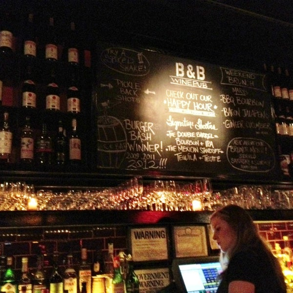 Photo taken at B & B Winepub (Burger & Barrel) by Kathie R. on 12/22/2012