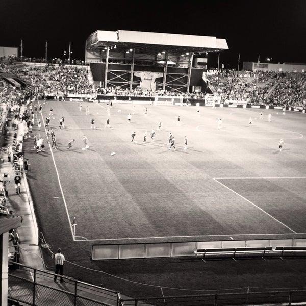 Photo taken at MAPFRE Stadium by Nicole H. on 9/1/2013