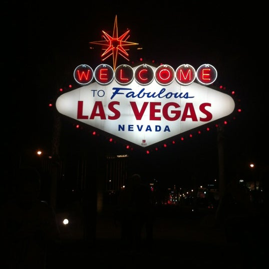 Photo taken at Welcome To Fabulous Las Vegas Sign by Dareen G. on 10/29/2012