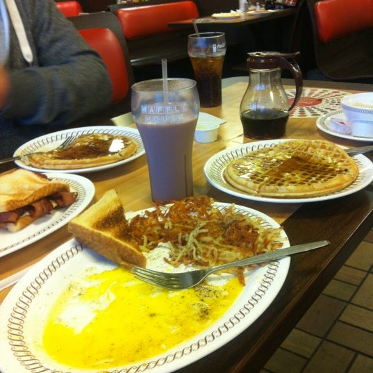 Photo taken at Waffle House by Lauren F. on 12/16/2012
