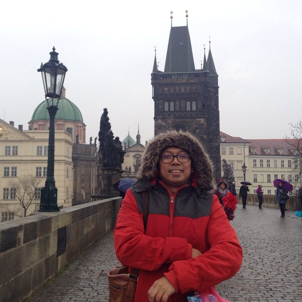 Photo taken at Karlův most | Charles Bridge by Adit F. on 3/15/2014