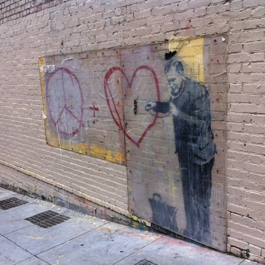 Banksy mural 39 peaceful hearts 39 doctor now closed for Banksy mural painted over