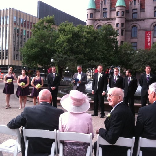 Photo taken at Rice Park by LeAnne H. on 8/27/2011