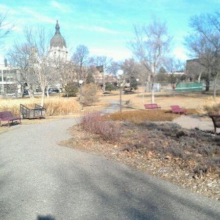 Photo taken at Loring Park by Jen H. on 12/26/2011
