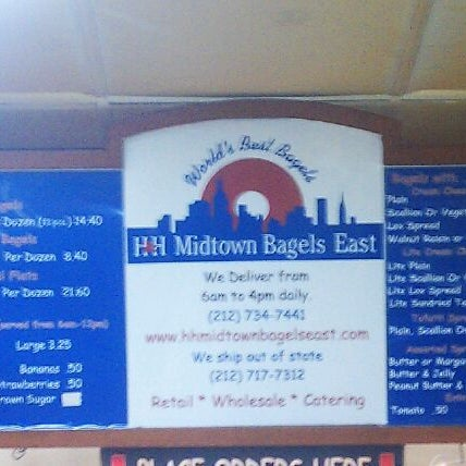 Photo taken at H&H Midtown Bagels East by Craig T. on 1/4/2012