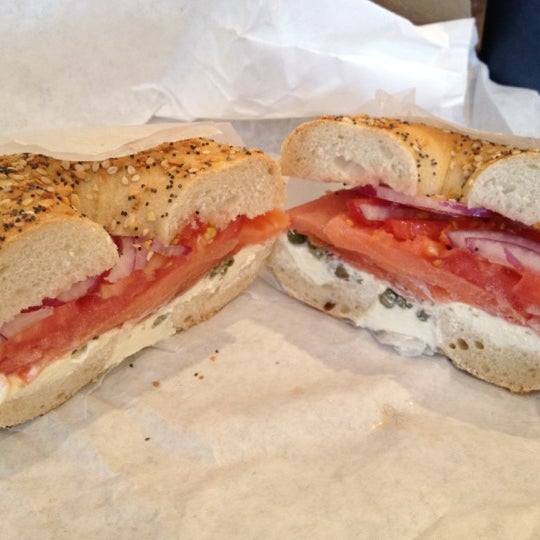 Photo taken at Murray's Bagels by Owen E. on 7/30/2012
