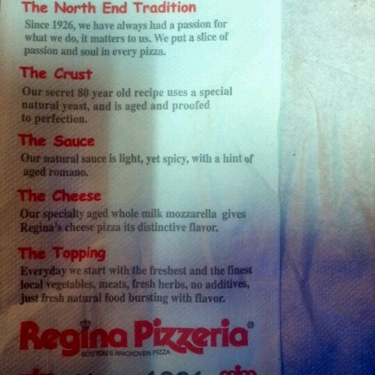 Photo taken at Regina Pizzeria by Benjamin S. on 2/25/2012