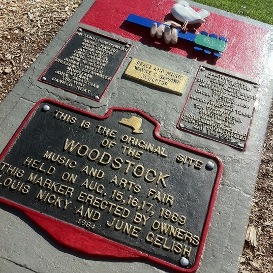 Photo taken at Woodstock Festival Concert Site/Monument by Bruce L. on 10/17/2011