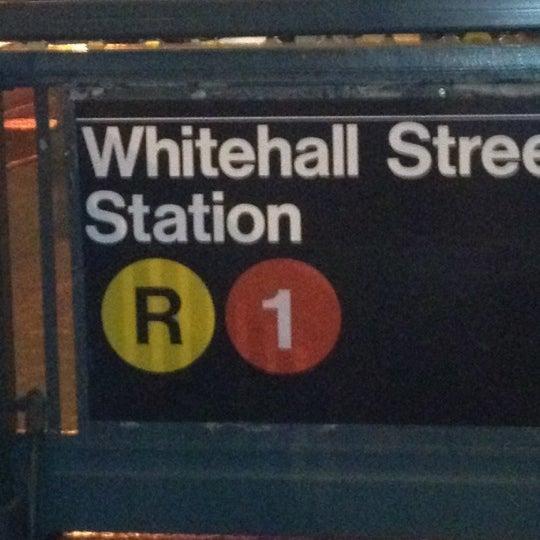Photo taken at MTA Subway - South Ferry (1) by John C. on 3/2/2012