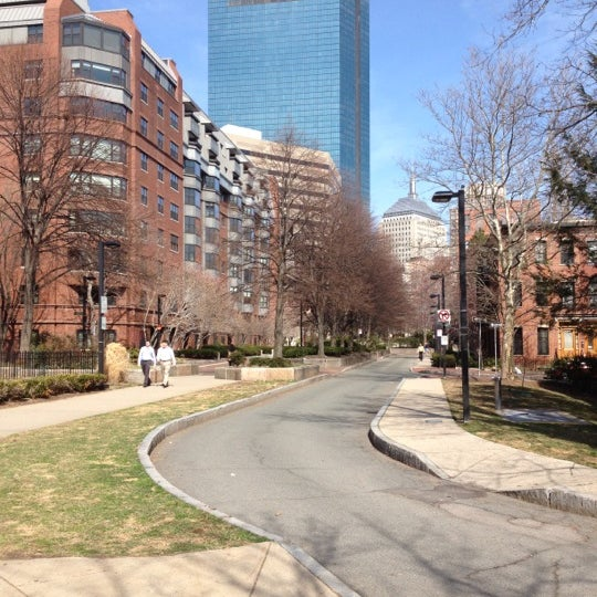 Photo taken at SW Corridor Park - Back Bay by Greg C. on 3/19/2012