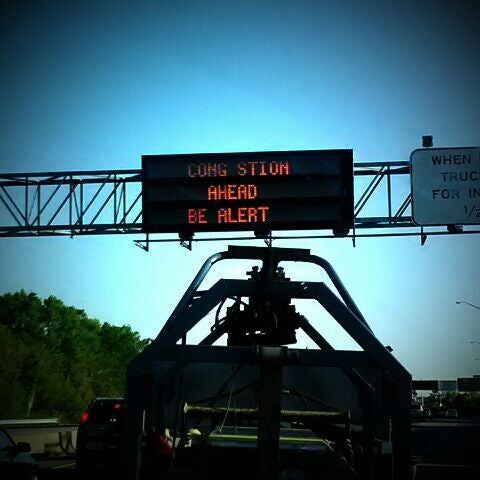 Photo taken at HRBT by Nathan T. on 4/13/2012