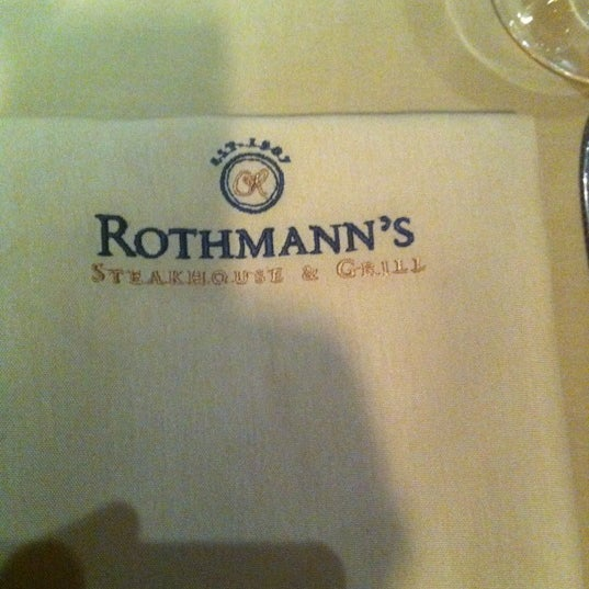Photo taken at Rothmann's Steakhouse by Eric E. on 2/15/2012