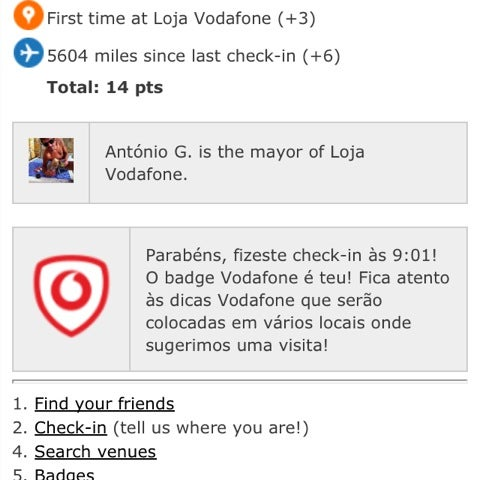 Photo taken at Loja Vodafone by A . on 4/13/2012