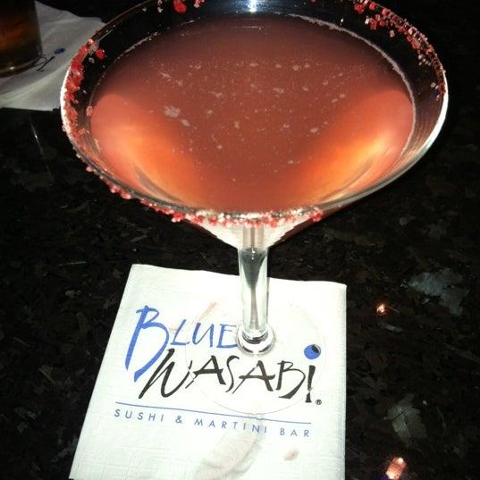 Photo taken at Blue Wasabi Sushi & Martini Bar by Jaime L. on 12/24/2011