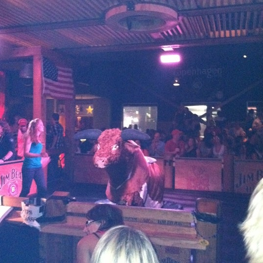 Free mechanical bull rides. There is also a bathroom attendant with candy.