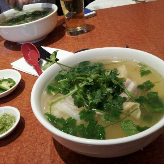 #1 - Pho ga - chicken noodle soup! also served with lai  fen out cellophane noodles.