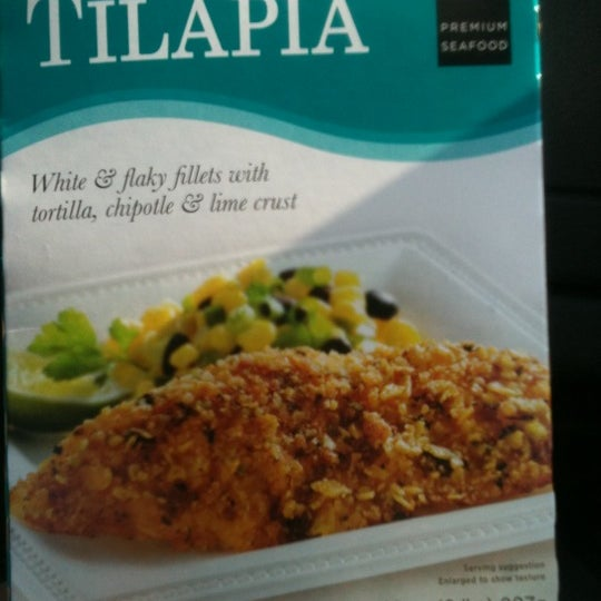 Their tortilla crusted tilapia is unbelievably good! In the frozen section.