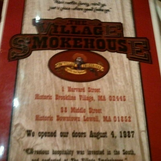 Photo taken at The Village Smokehouse by Alan M. on 12/17/2011