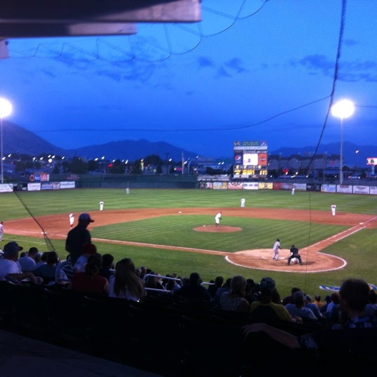 Photo taken at Home of the Owlz (Brent Brown Ballpark) by Jack W. on 7/22/2012