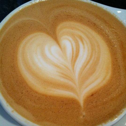 Photo taken at Transcend Coffee by Cynthia S. on 4/3/2012