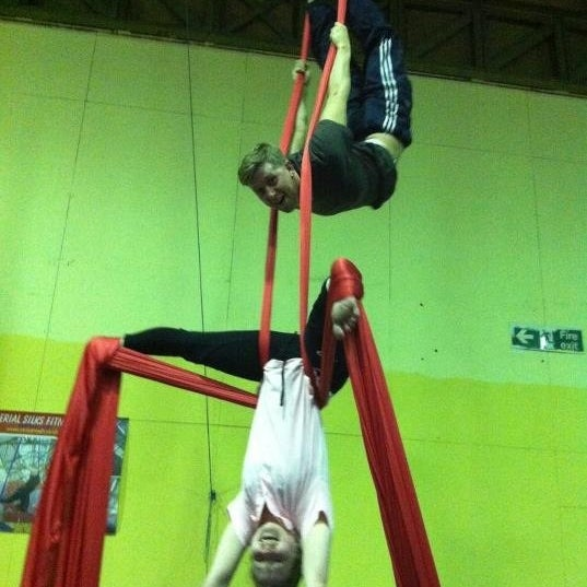 Photo taken at Creation Climbing Centre by Liz S. on 4/20/2012