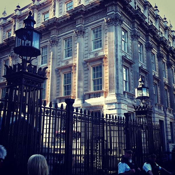 Photo taken at 10 Downing St. by Alex M. on 8/18/2012