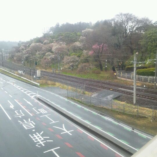 Photo taken at 偕楽橋 by T25_owner on 3/24/2012