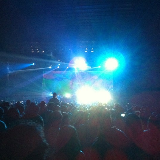 Photo taken at MGMT Live in KL @ Bukit Kiara Indoor Arena by Prozic on 3/26/2011