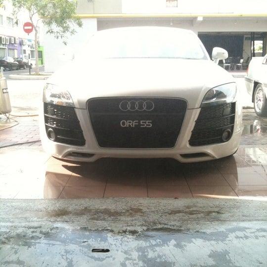 Photo taken at Meguairs car wash by Blur B. on 8/13/2011
