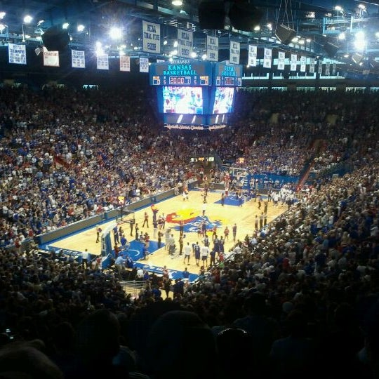 Photo taken at Allen Fieldhouse by Mauricio G. on 9/24/2011