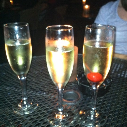 Thursday is $2 champagne. Bottoms up.